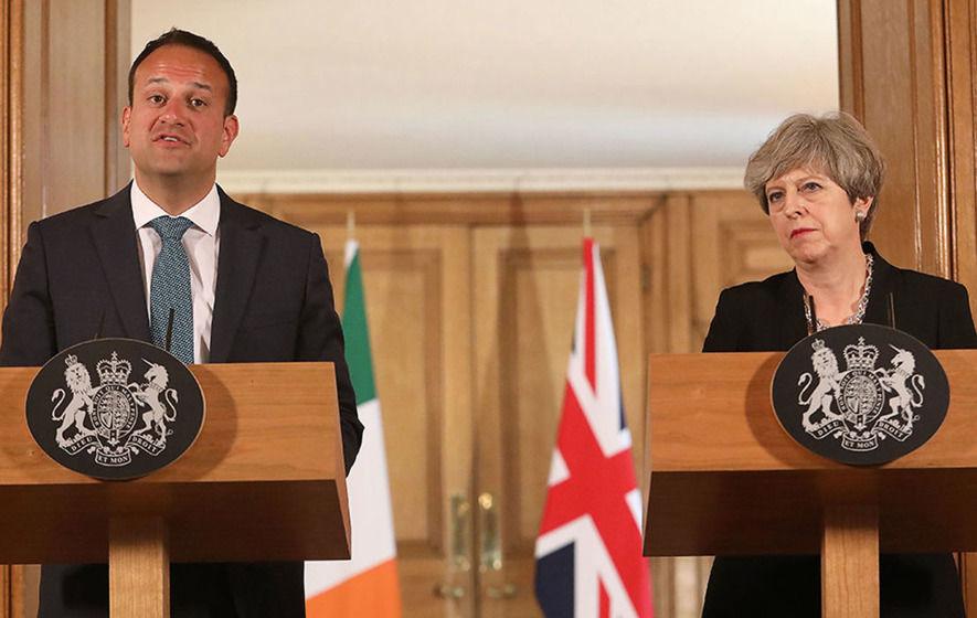 Theresa May and Leo Varadkar