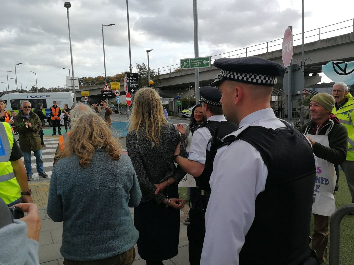 Extinction Rebellion Protest London City Airport