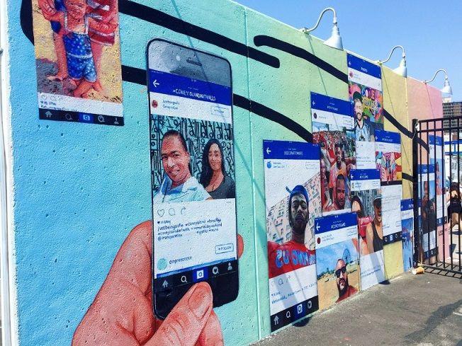 Social media wall art