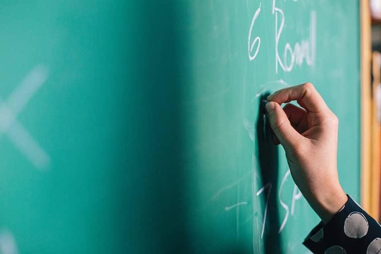 Chalkboard in school