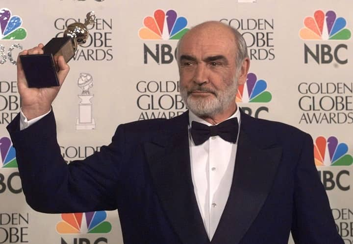 Sean Connery Golden Globes award win