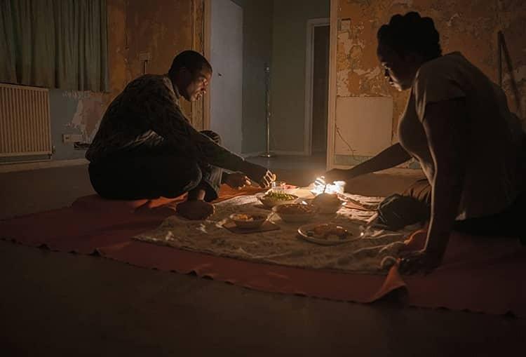 Wunmi Mosaku and Sope Dirisu in His House