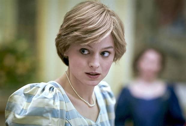Emma Corrin as Diana in The Crown season 4