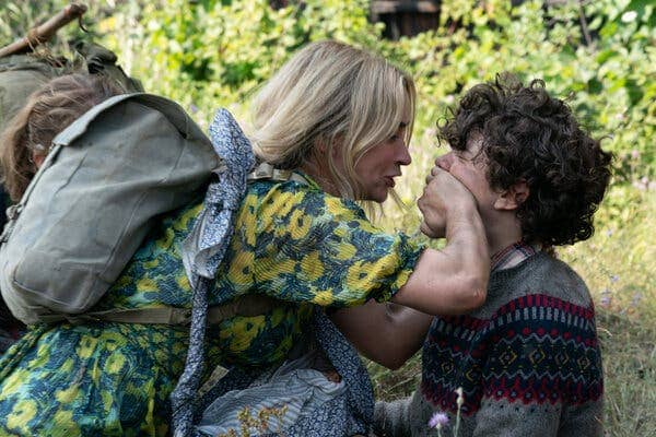 Emily Blunt and Noah Jupe in A Quiet Place Part II