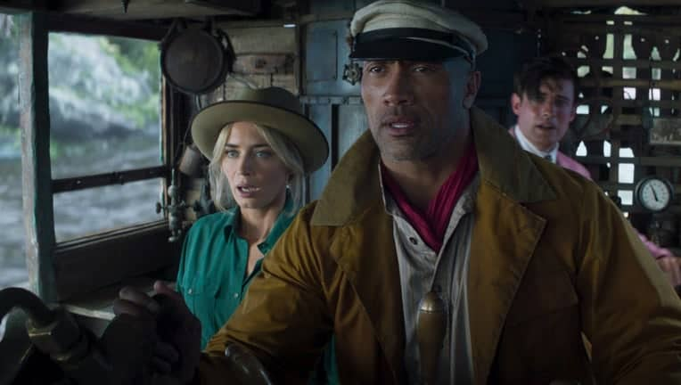 Emily Blunt, Dwayne Johnson and Jack Whitehall in Jungle Cruise